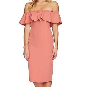 NWT 1.State Ruffle Off-the-Shoulder Blush Dress